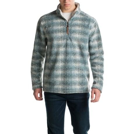 True Grit Melange Blanket Sweater - Zip Neck (For Men)