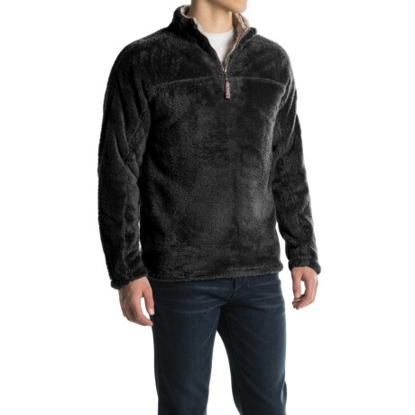 True Grit Double Plush Fleece Sweatshirt - Zip Neck (For Men)