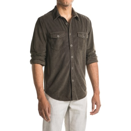 True Grit Sueded Solid Shirt - Long Sleeve (For Men)