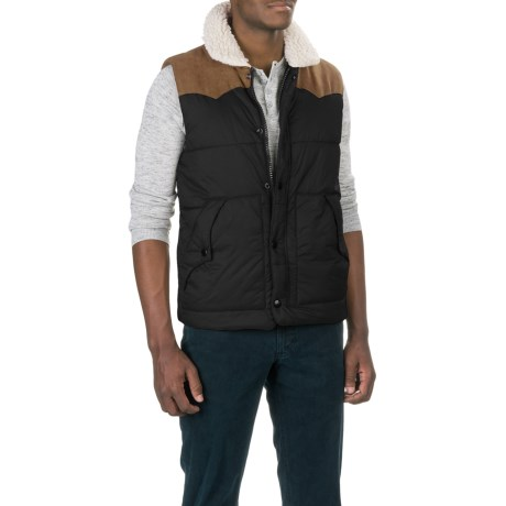 True Grit Solid Puffer Vest - Insulated (For Men)