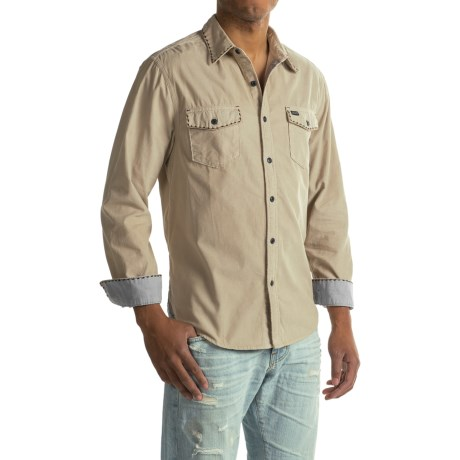 True Grit Solid Stitched Canyon Corduroy Shirt - Long Sleeve (For Men)