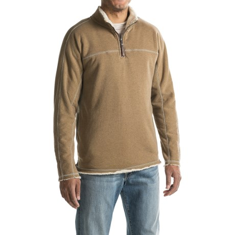 True Grit Heather Fleece-Lined Sweatshirt - Zip Neck (For Men)