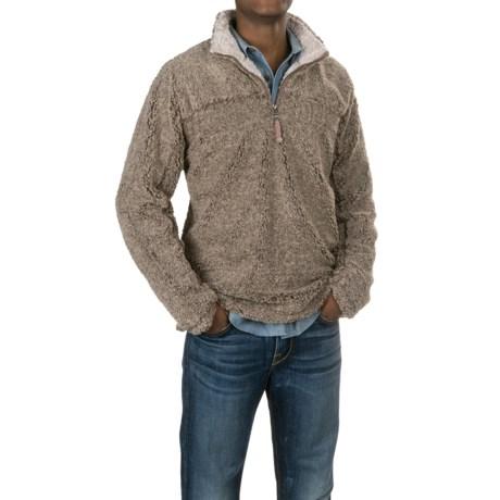 True Grit Melange Faux-Shearling Sweater - Zip Neck (For Men)