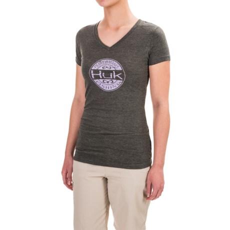 Huk Oval V-Neck T-Shirt - Short Sleeve For Women)