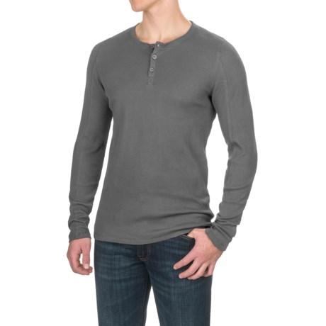 Gramicci Jak Waffle Henley Shirt - Stretch Cotton, Long Sleeve (For Men)