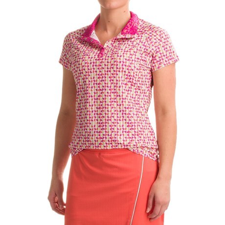 Bette & Court Petal Henley Shirt - Short Sleeve (For Women)