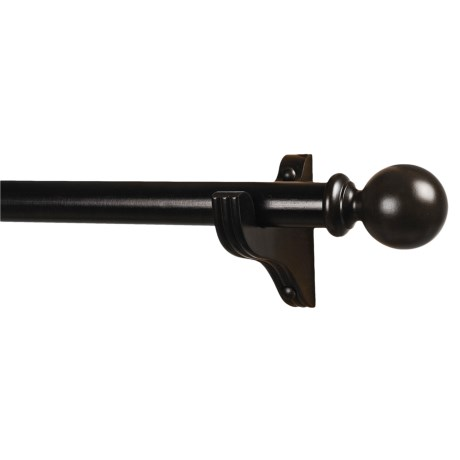 Versailles Basswood Curtain Rod with Round Finials - 8'
