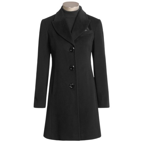 Ellen Tracy Reefer Coat - Angora Touch (For Women)