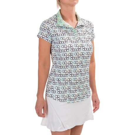 Bette & Court Chain Henley Shirt - UPF 50, Short Sleeve (For Women)