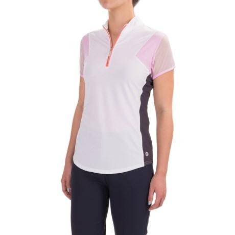Bette & Court Color-Block Zip Neck Shirt - UPF 50, Short Sleeve (For Women)