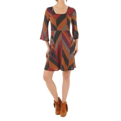 Wrangler Bell Sleeve Sweater Dress - 3/4 Sleeve (For Women)