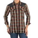 Wrangler Lace Yokes Shirt - Snap Front, Long Sleeve (For Women)