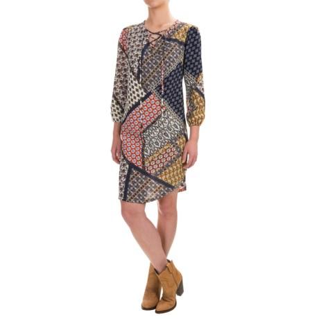 Wrangler A-Line Dress - 3/4 Sleeve (For Women)