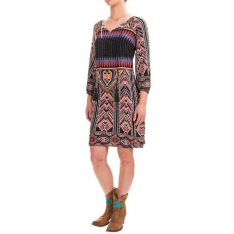 Wrangler Printed Boho Dress - 3/4 Sleeve (For Women)