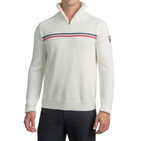 Rossignol Gravity Sweater - Virgin Wool, Zip Neck (For Men)