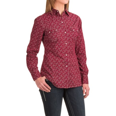 Roper Printed Western Shirt - Snap Front, Long Sleeve (For Women)