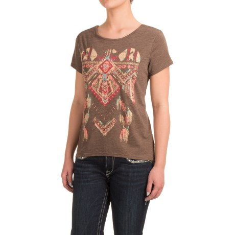 Roper Heather Jersey Slouchy T-Shirt - Short Sleeve (For Women)