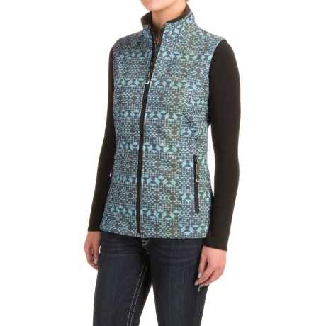 Roper Diamond Aztec Soft Shell Vest (For Women)