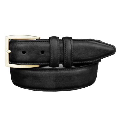 Lejon Oiled-Nubuck Belt - Gold-Tone Buckle (For Men)