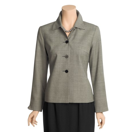 Austin Reed Houndstooth Jacket - Worsted Wool Gabardine (For Women)