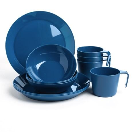 GSI Outdoors GSI Cascadian Four-Person Dish Set - 12-Piece