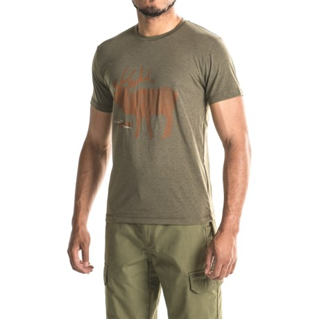 Sitka Elk Sketch T-Shirt - Short Sleeve (For Men and Big Men)