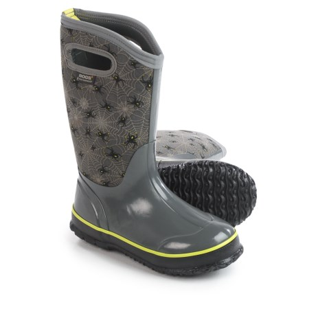 Bogs Footwear Classic Creepy Crawler Insulated Rain Boots - Waterproof (For Big Kids)