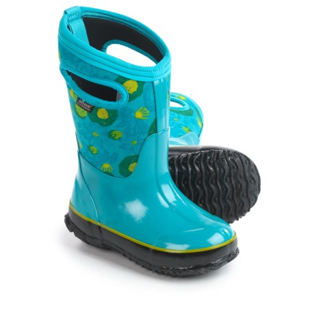 Bogs Footwear Classic Watercolor Insulated Rain Boots - Waterproof (For Little Girls)