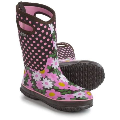 Bogs Footwear Bogs Flower Dots Rain Boots - Waterproof, Rubber, Neoprene (For Big Girls)