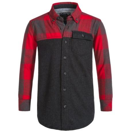 Kavu Little Fork Flannel Shirt - Long Sleeve (For Big Boys)