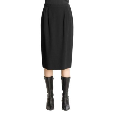 Austin Reed Worsted Wool Gabardine Skirt - Pleated (For Women)