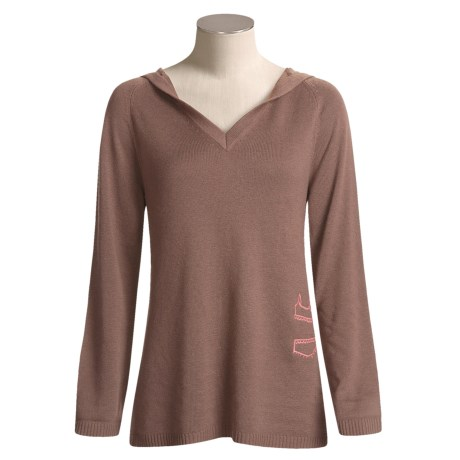 Munki Munki Nighttime Lounge Sweater - Hooded, Silk-Cashmere (For Women)