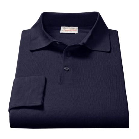 Gran Sasso Polo Shirt - Merino Wool, Long Sleeve (Men)