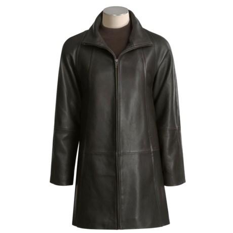 Tibor Leather Zip Coat - Zip-Out Liner (For Women)