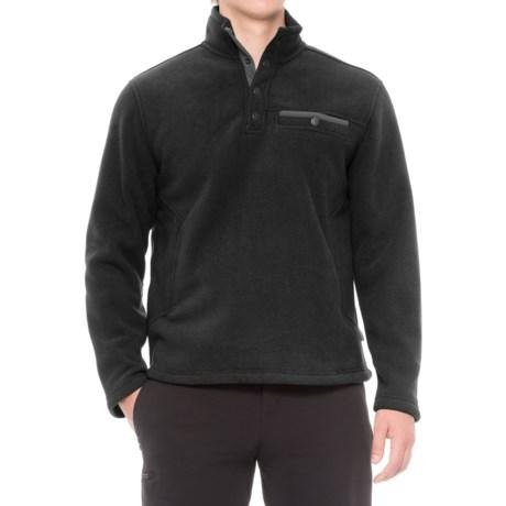 White Sierra Sherpa Fleece Sweatshirt - Snap Placket (For Men)