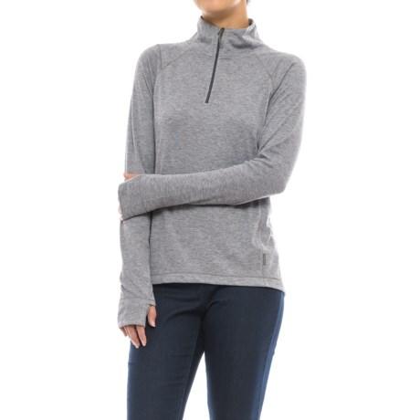 White Sierra Pebble Peak Shirt - UPF 30, Zip Neck, Long Sleeve (For Women)
