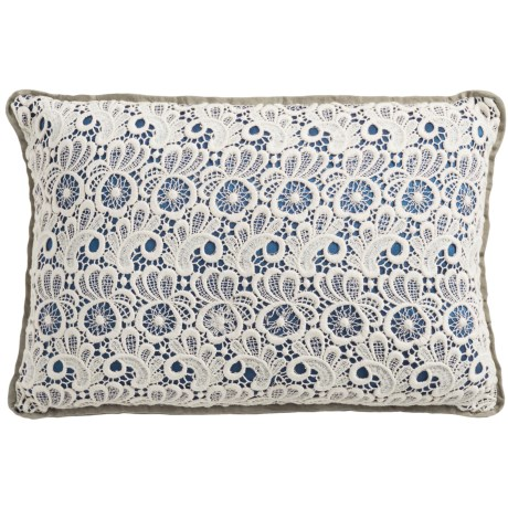 Christy of England Christy Lace Throw Pillow - 12x18""