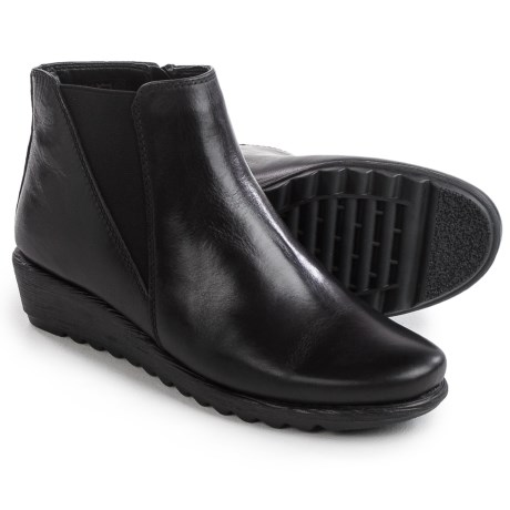 Italian Shoemakers Wedge Booties - Leather (For Women)