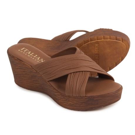 Italian Shoemakers Platform Sandals - Leather (For Women)