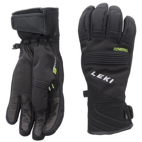LEKI Elements Palladium S Gloves - Waterproof, Insulated (For Men and Women)