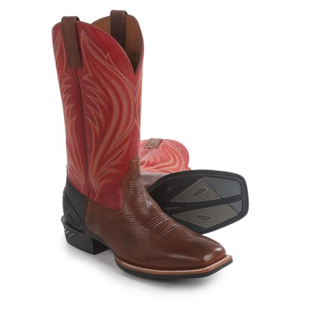 Ariat Catalyst Prime Cowboy Boots - Square Toe (For Men) in Mocha - Closeouts