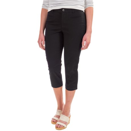 Specially made Flat-Front Capris - Cotton Blend (For Women)