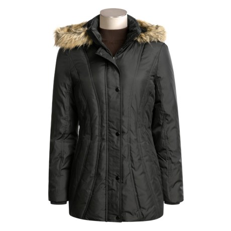 London Fog Down Coat - Faux-Fur-Trimmed Hood (For Women)
