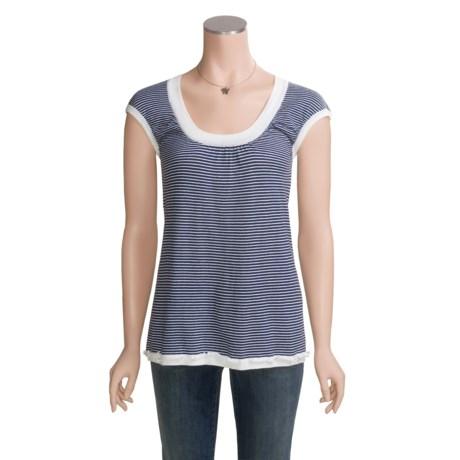Future Paradise Pinstripe Sweater - Short Sleeve (For Women)
