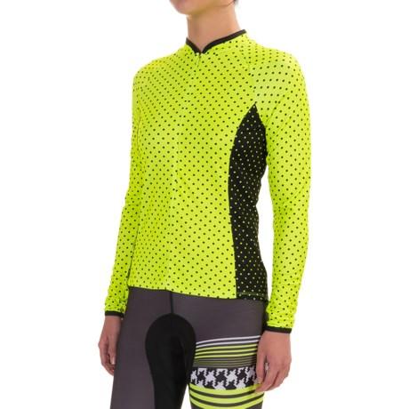 Shebeest Bellissima Pattern Cycling Jersey - UPF 45, Zip Neck, Long Sleeve (For Women)