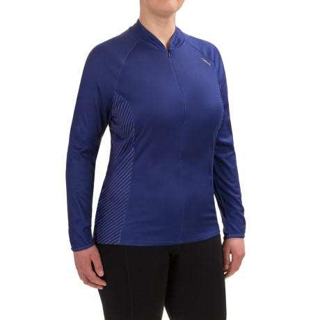 Shebeest Bellissima Cycling Jersey - UPF 45+, Zip Neck, Long Sleeve (For Plus Size Women)
