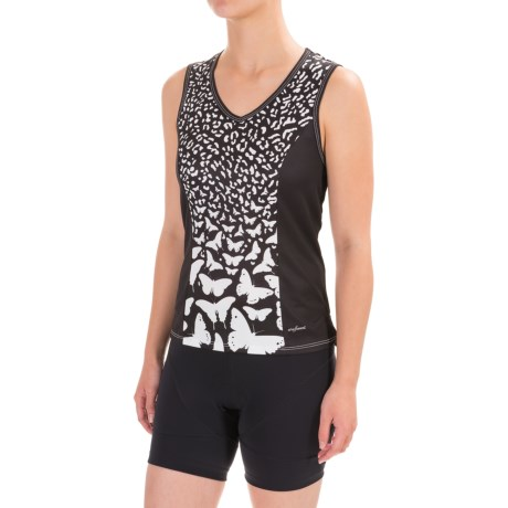 Shebeest Easy V Cycling Jersey - Sleeveless (For Women)