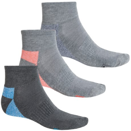 Fila Heathered-Sole Socks - 3-Pack, Quarter Crew (For Men)