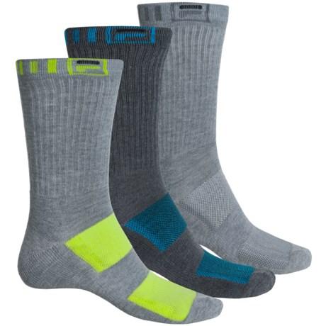 Fila Striped-Welt Socks - 3-Pack, Crew (For Men)