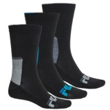 Fila Color-Block Socks - 3-Pack, Crew (For Men)